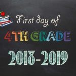 Free Printable First & Last Day Of School Signs 2018 2019   Neatlings   First Day Of Fourth Grade Free Printable