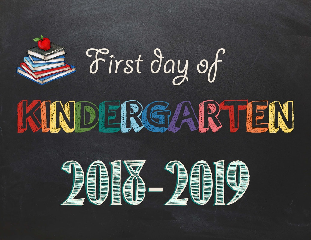 Free Printable First & Last Day Of School Signs 2018-2019 - Neatlings - First Day Of Kindergarten Free Printables