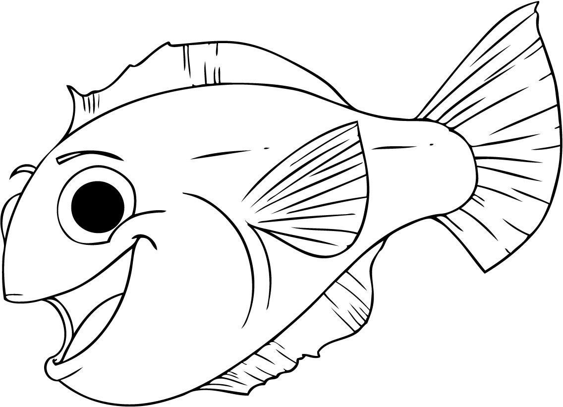 Free Printable Fish Coloring Pages For Kids | Tiger Cub | Fish - Free Printable Fish Coloring Pages