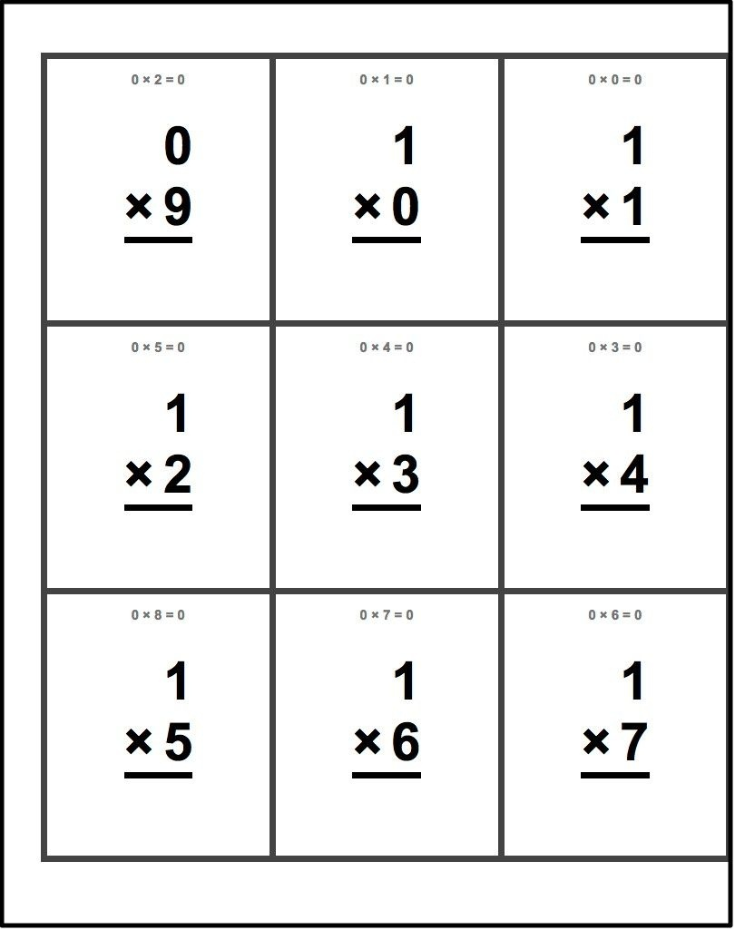 Free Printable Flash Cards For Multiplication Math Facts. This Set - Flash Cards Multiplication Free Printable