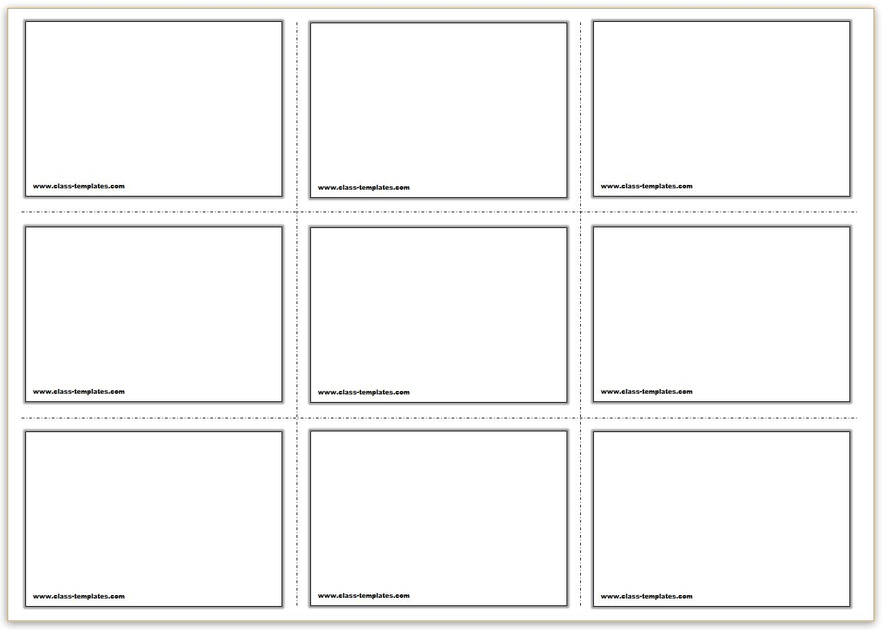 Free Printable Flash Cards Template - Free Printable Note Cards Template