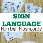 Free Printable Flashcards: Asl Number Flashcards   Sign Language Flash Cards Free Printable