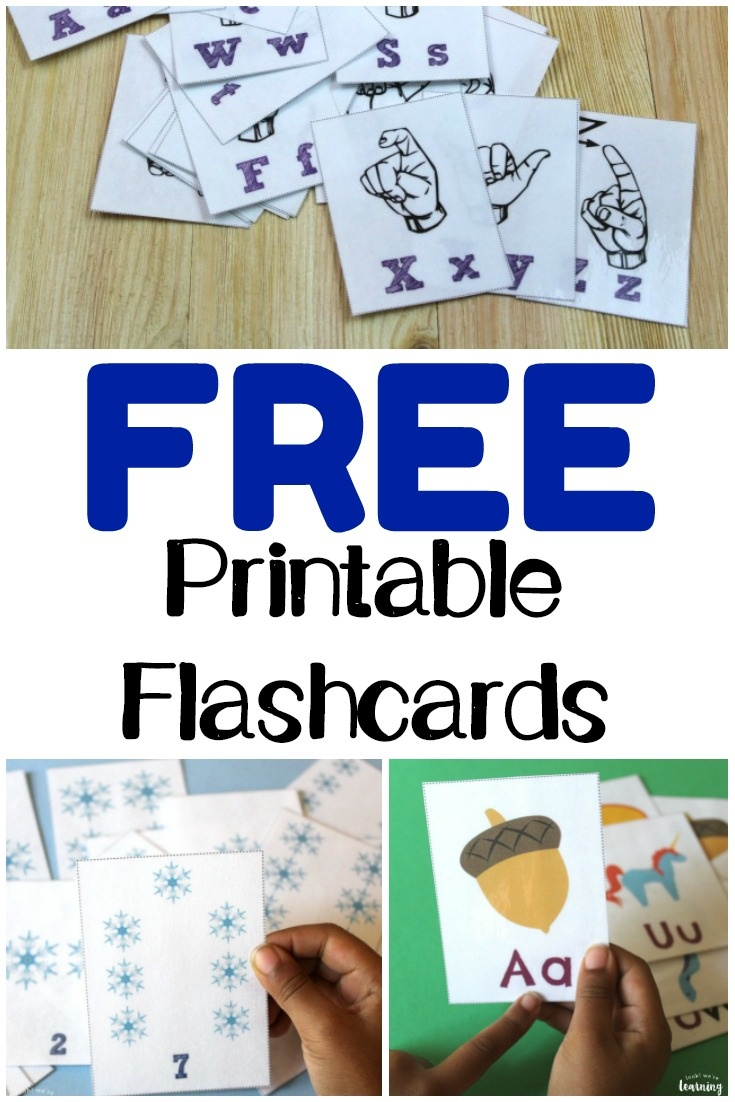 Free Printable Flashcards - Look! We're Learning! - Free Printable Flash Cards