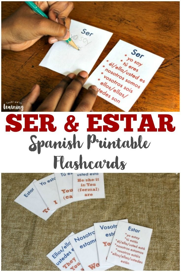 Free Printable Flashcards: Ser And Estar Flashcards | Mi Español - Free Printable Spanish Verb Flashcards