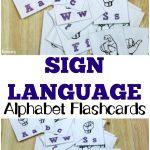Free Printable Flashcards: Sign Language Alphabet Flashcards   Sign Language Flash Cards Free Printable