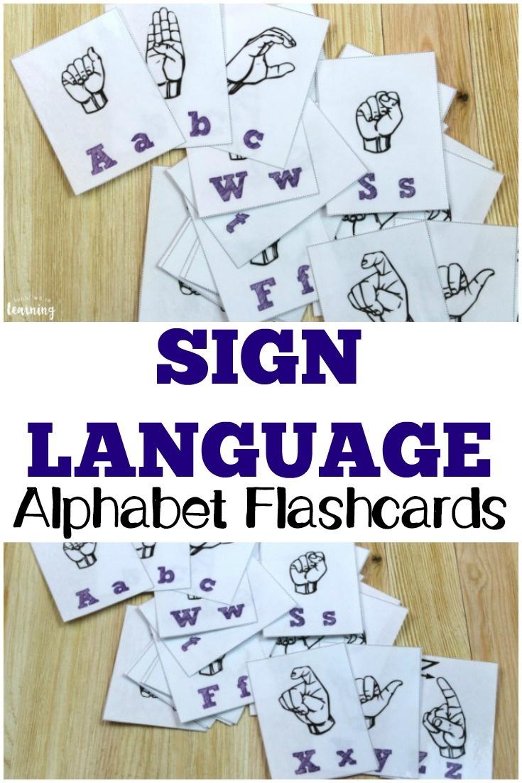 Free Printable Flashcards: Sign Language Alphabet Flashcards - Sign Language Flash Cards Free Printable
