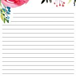 Free Printable Floral Stationery   Paper Trail Design   Free Printable Lined Stationery