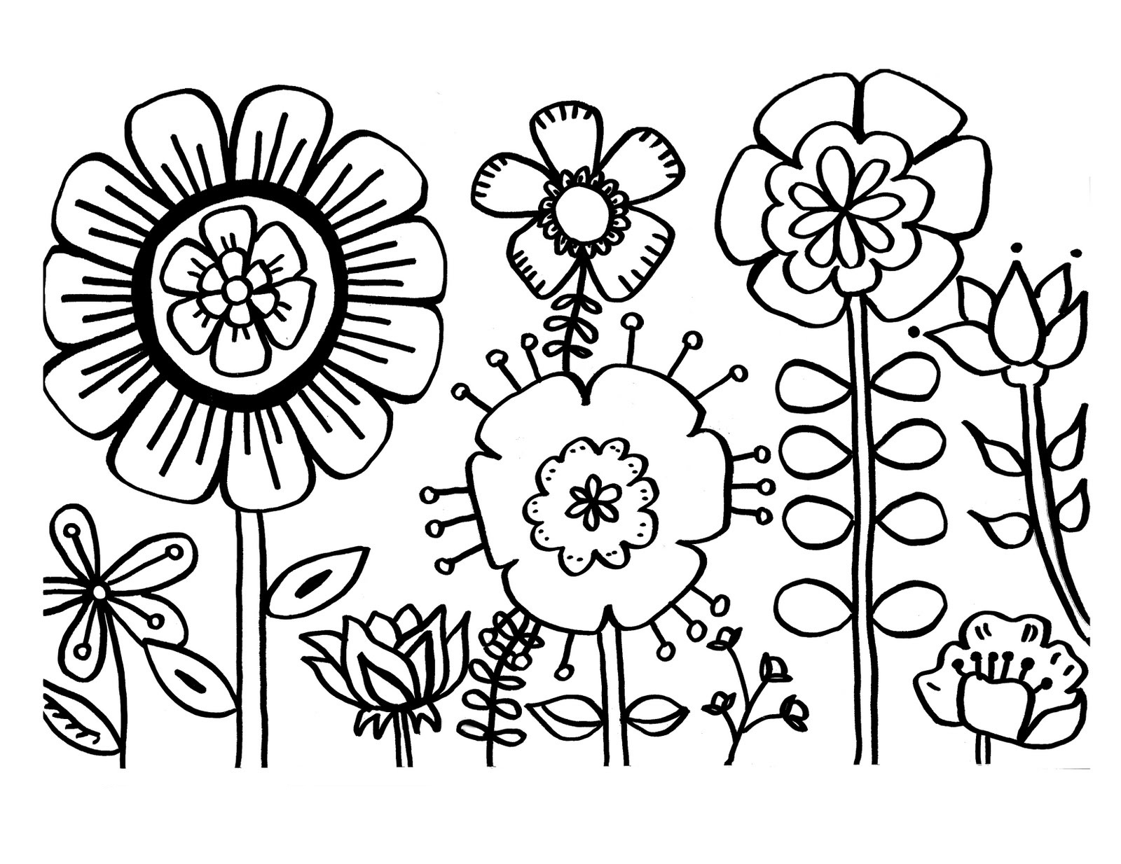 Free Printable Flower Coloring Pages For Kids - Best Coloring Pages - Free Printable Flowers