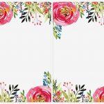 Free Printable Flower Labels   Label Maker Ideas Information   Free Printable Floral Labels