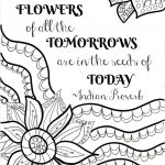 Free Printable Flower Quote Coloring Pages | Color Me Quotes | Quote   Free Printable Quote Coloring Pages For Adults