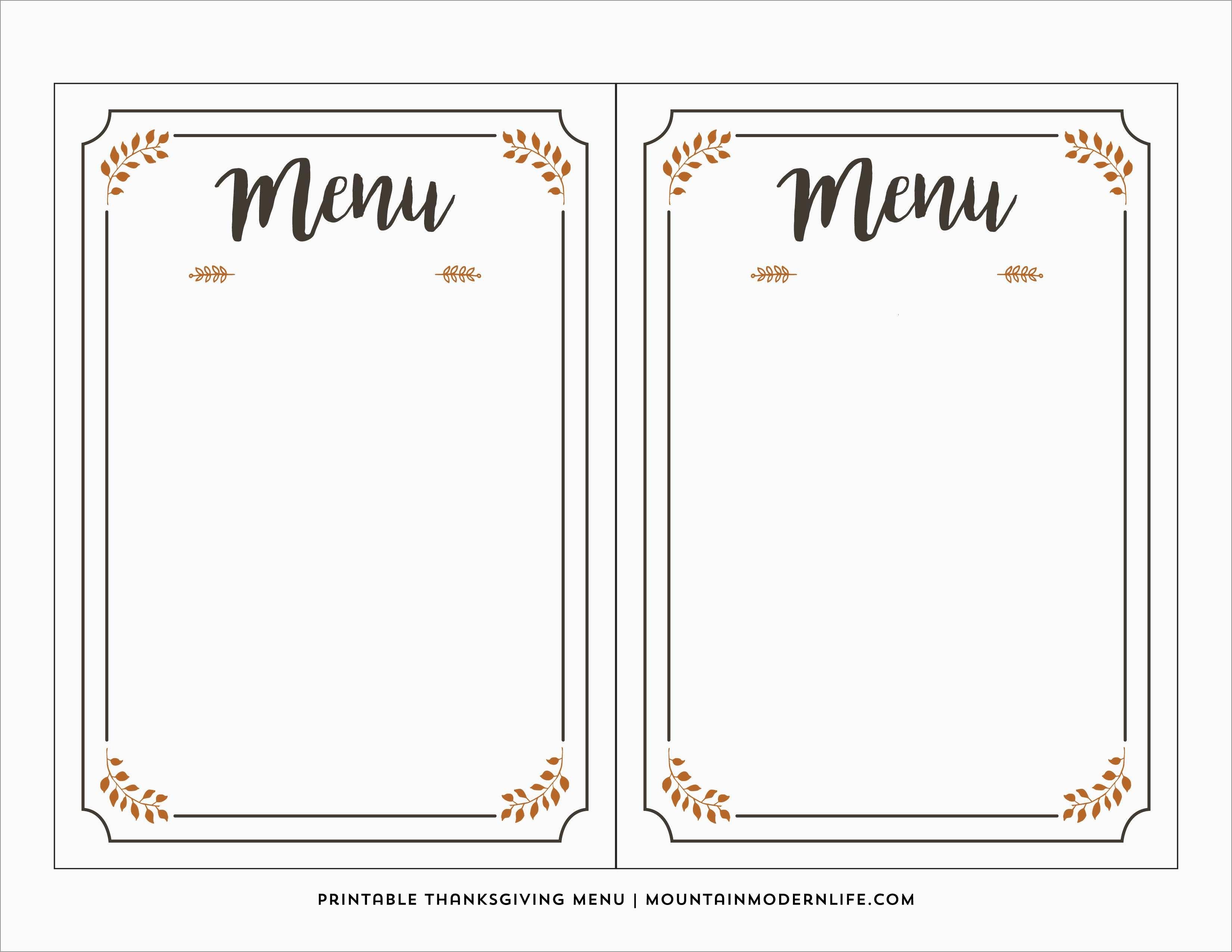 Free Printable Food Menu Templates New Menu Template Word | Best Of - Free Printable Menu Templates Word