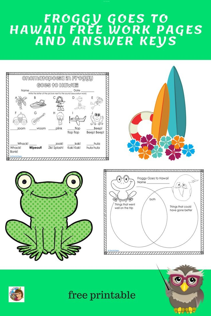 Free Printable For Froggy Builds A Tree House | Jonathan London - Froggy Goes To School Free Printables