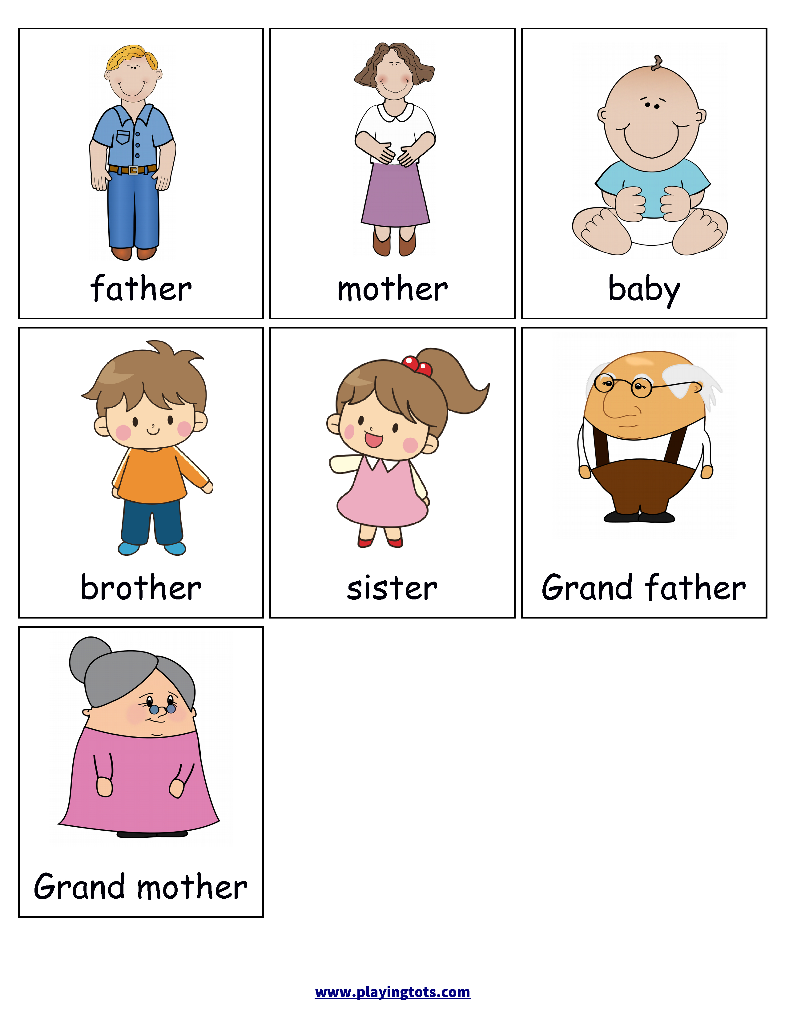 Free Printable For Kids (Toddlers/preschoolers) Flash Cards/charts - Free Printable File Folders For Preschoolers