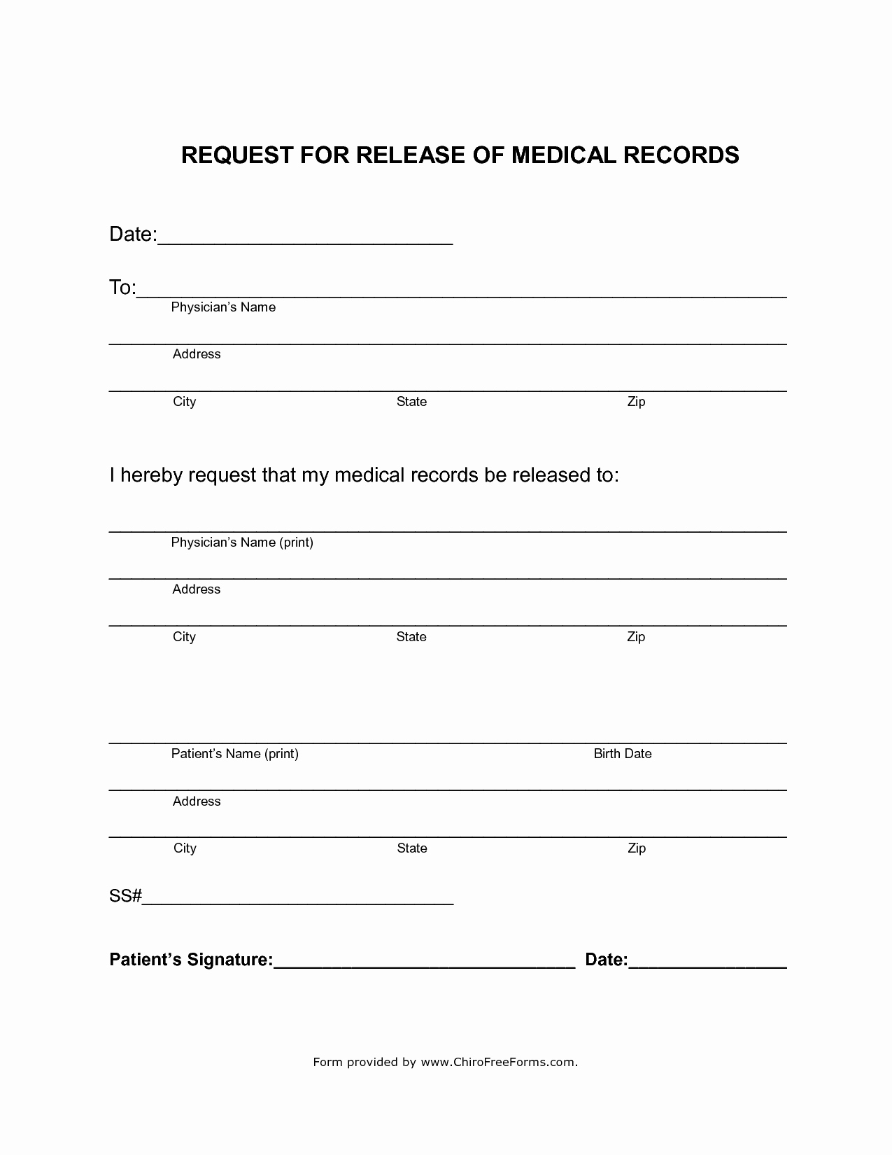 Free Printable Forms And 7 Best Of Free Printable Medical Release - Free Printable Medical Release Form