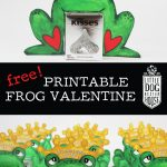 Free Printable Frog Valentine   Little Dog Design House   Pin The Kiss On The Frog Free Printable