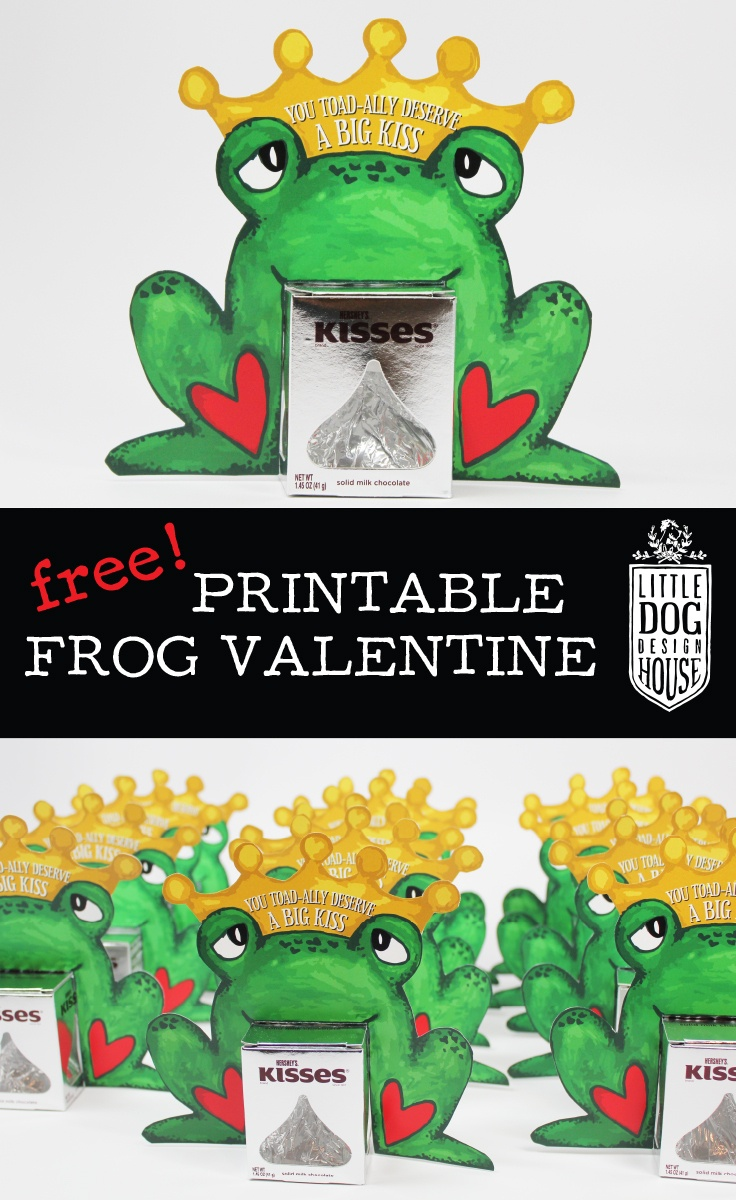 Free Printable Frog Valentine - Little Dog Design House - Pin The Kiss On The Frog Free Printable