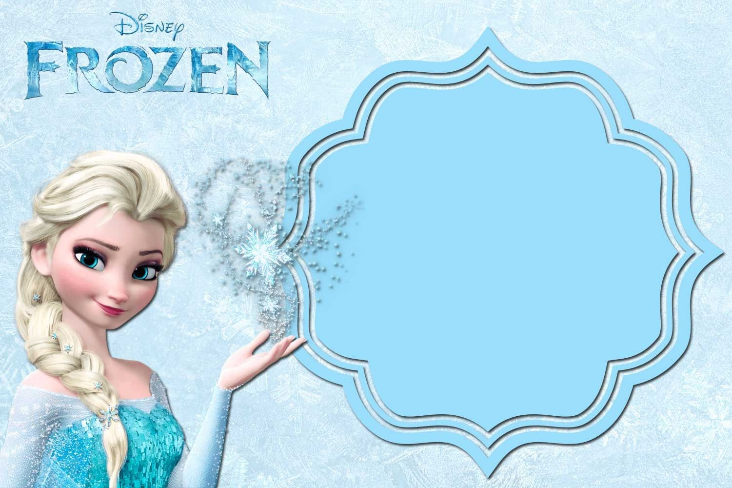 Free Printable Frozen Anna And Elsa Invitation Templates | Free - Free Printable Frozen Birthday Cards