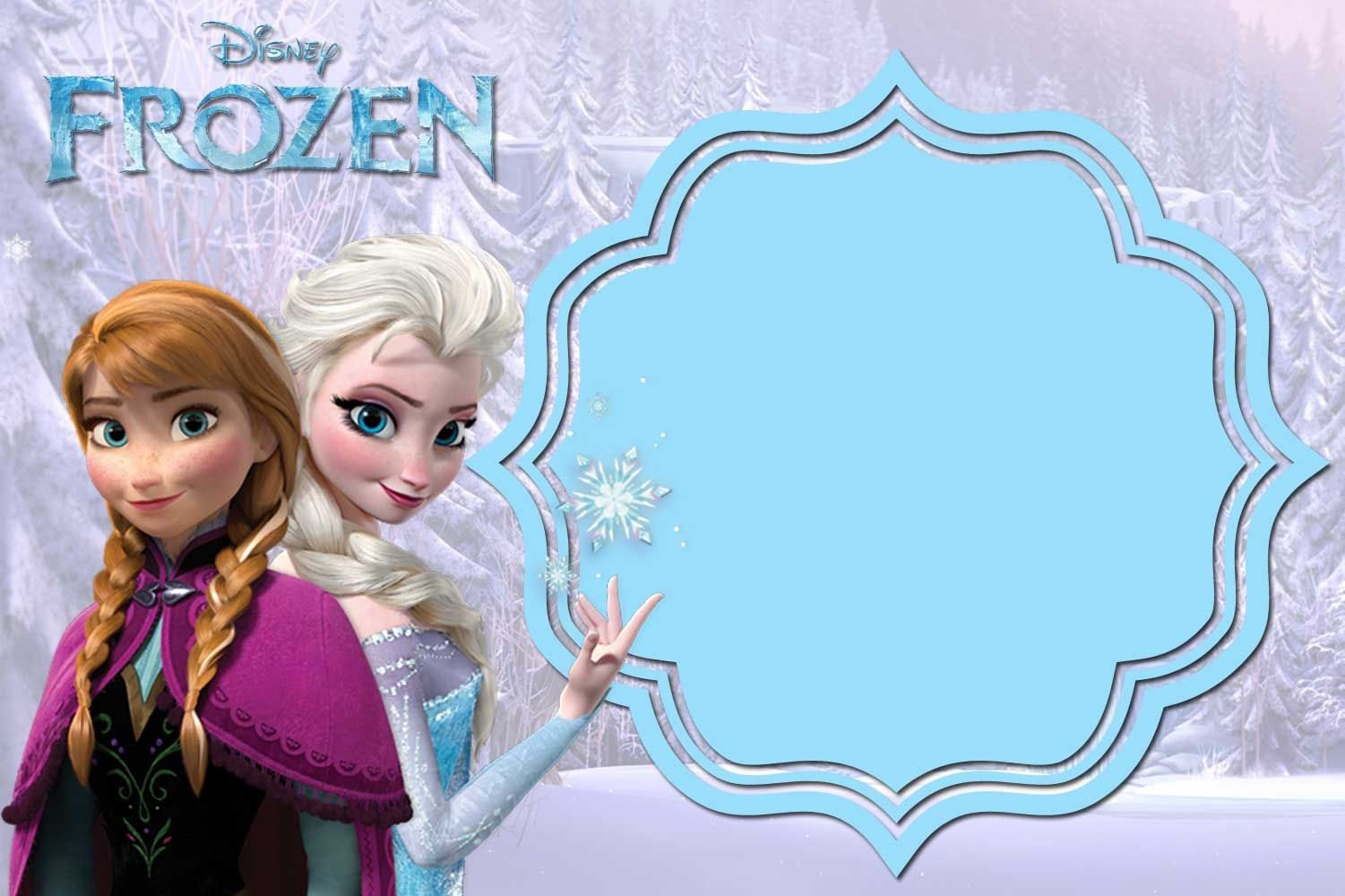 Free Printable Frozen Anna And Elsa Invitation Templates | Free - Frozen Invitations Printables Free