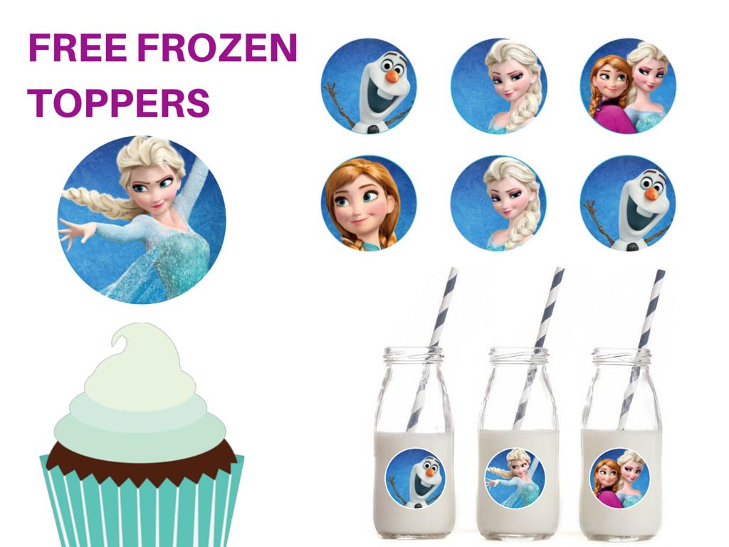 Free Printable Frozen Cupcake Circle Toppers - Magical Printable - Frozen Cupcake Toppers Free Printable