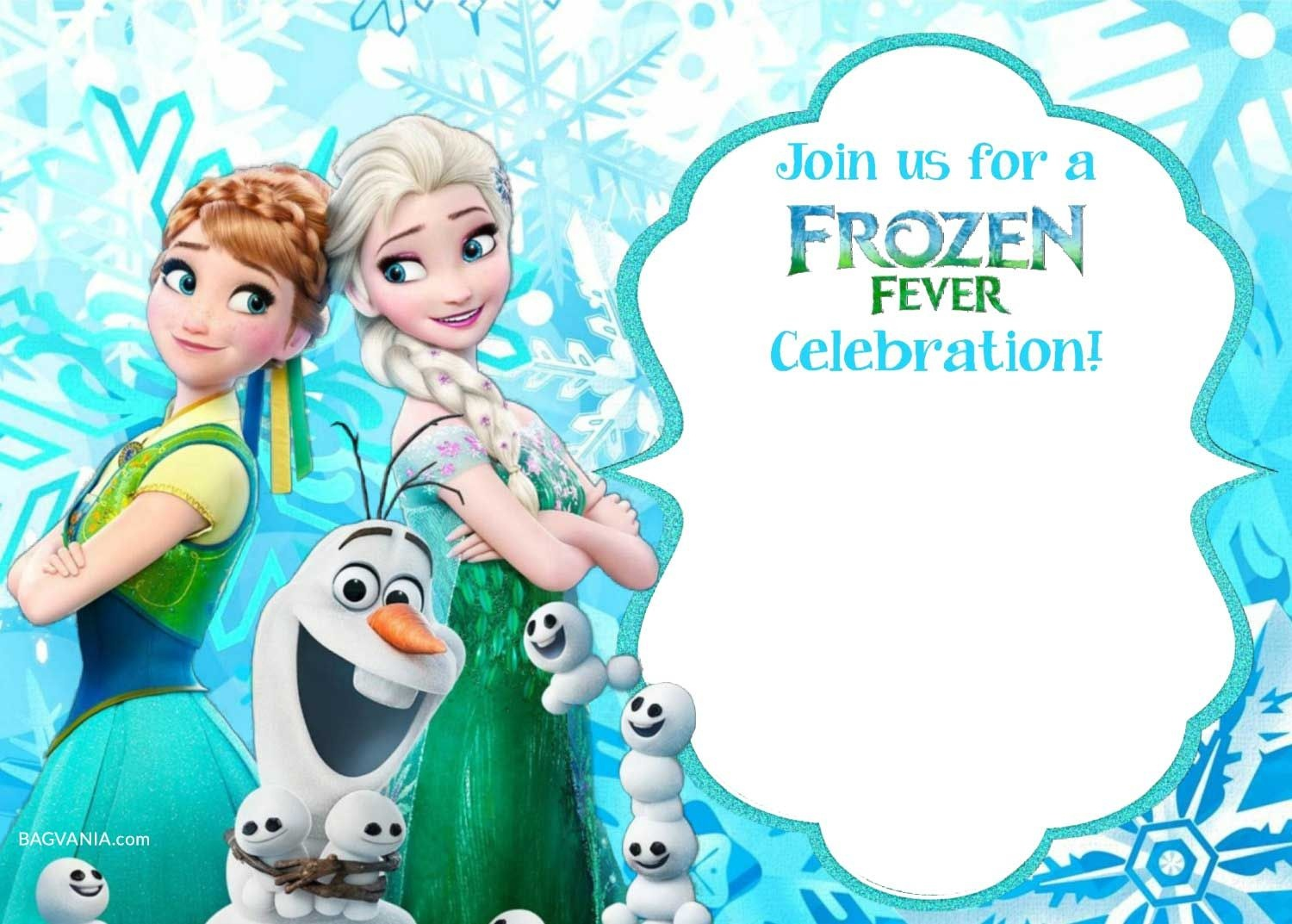 Free Printable Frozen Invitation Templates | Bagvania Free Printable - Free Printable Frozen Birthday Cards
