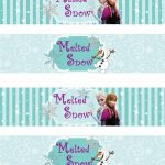 Free Printable Frozen Labels.   Is It For Parties? Is It Free? Is It   Free Frozen Printables