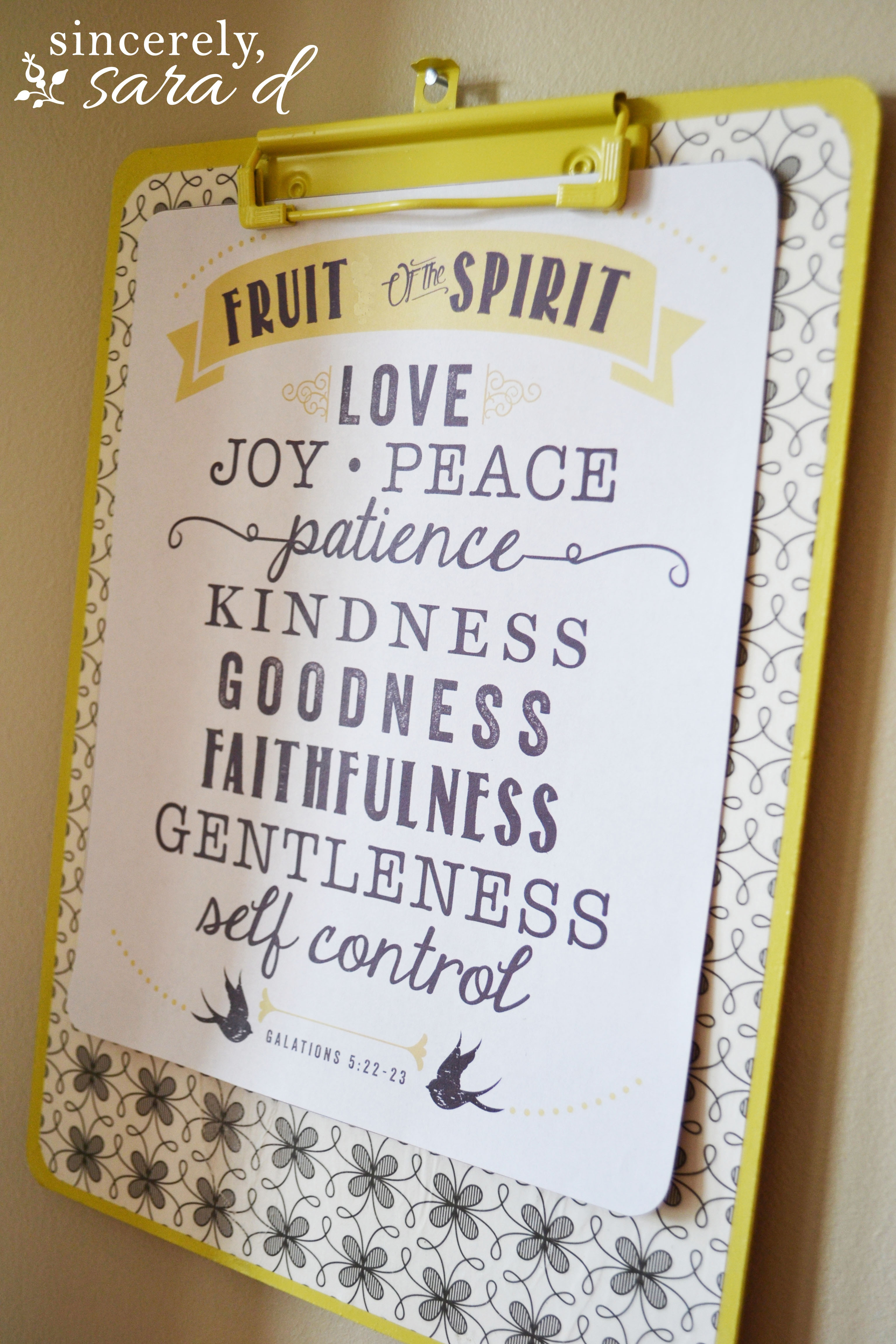 Free Printable Fruit Of The Spirit - Sincerely, Sara D. - Fruit Of The Spirit Free Printable