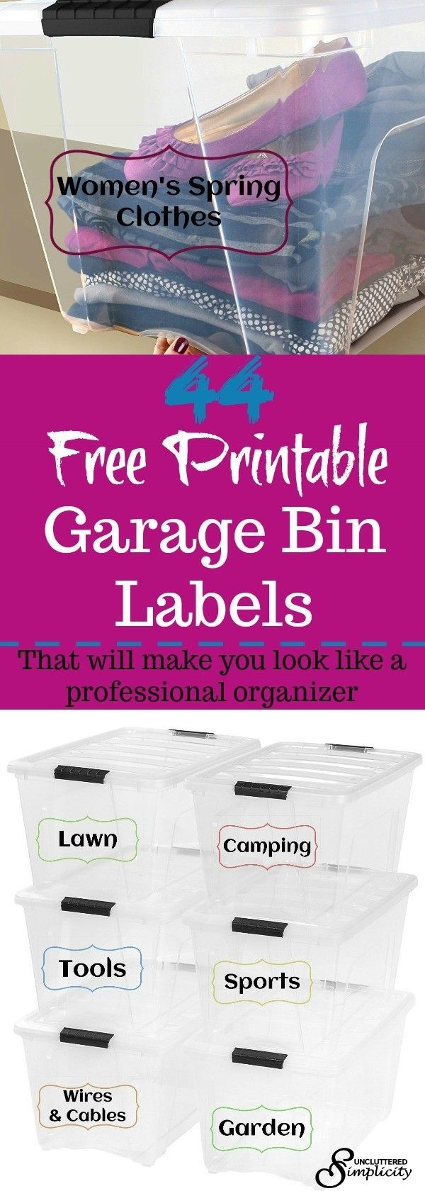 Free Printable Garage Bin Labels That Will Make You Look Like A Pro - Free Printable Labels For Storage Bins