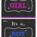 Free Printable Gender Reveal Announcements And Signs! #pregnancy   Free Gender Reveal Printables
