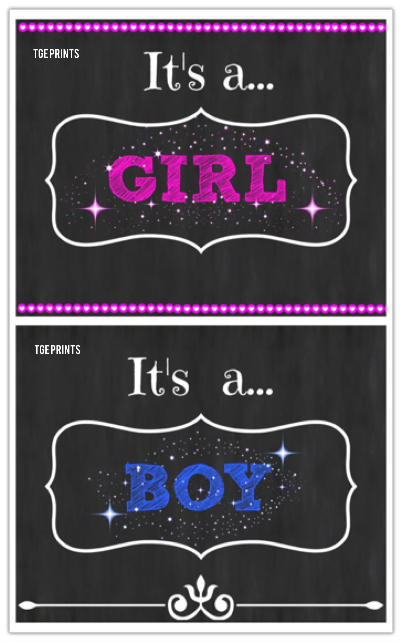 Free Printable Gender Reveal Announcements And Signs! #pregnancy - Free Gender Reveal Printables