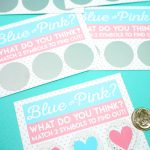 Free Printable Gender Reveal Scratch Off Cards   Happiness Is Homemade   Free Gender Reveal Printables