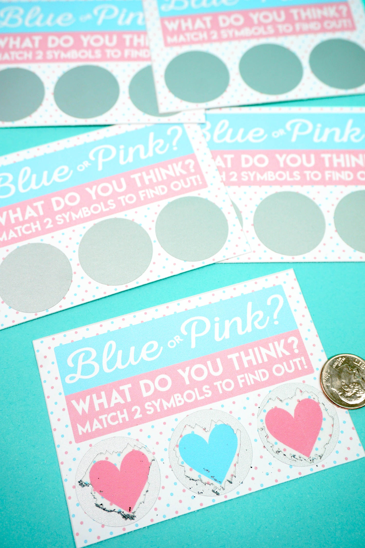 Free Printable Gender Reveal Scratch-Off Cards - Happiness Is Homemade - Free Gender Reveal Printables