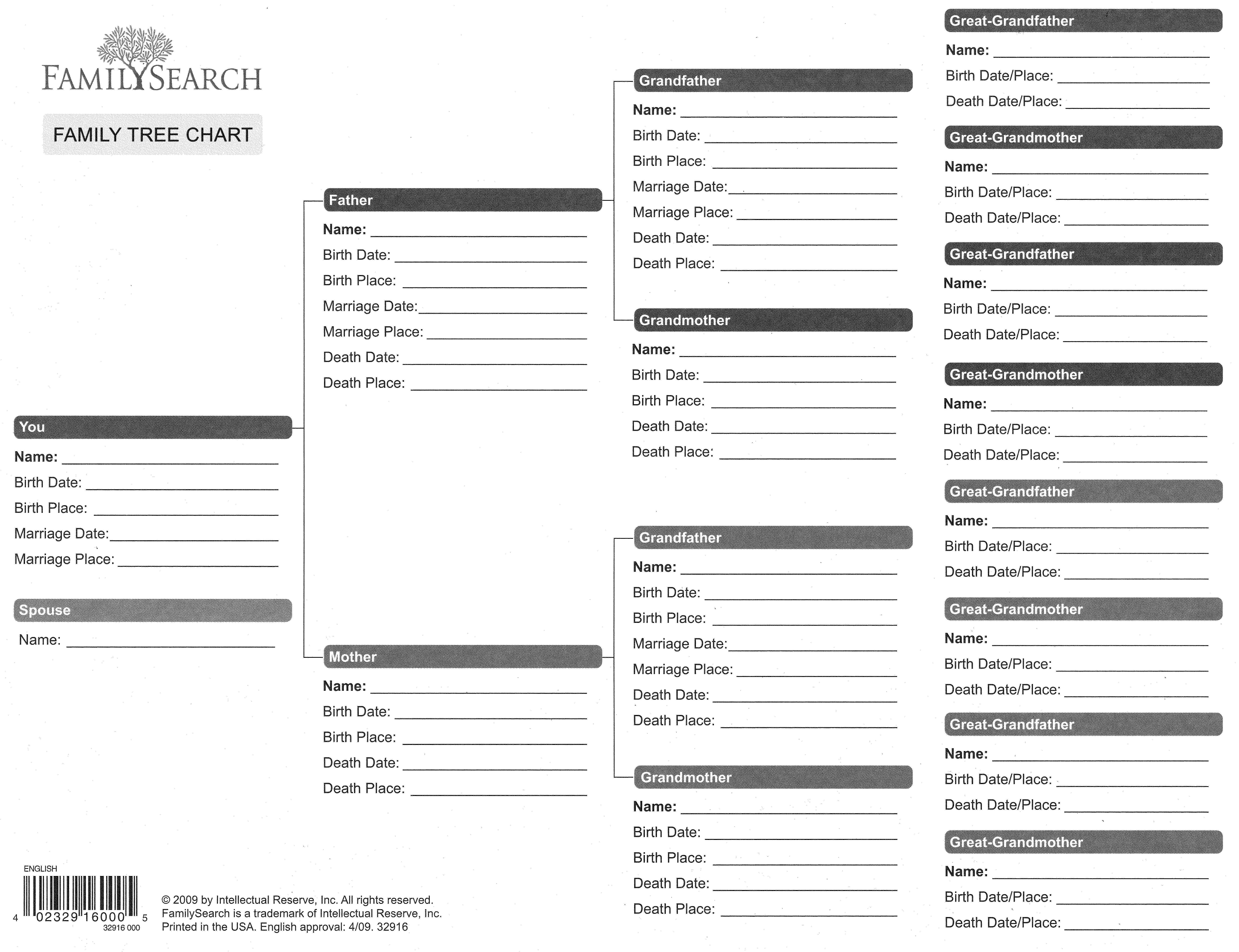 Free Printable Genealogy Forms Client Family Tree Blank - Uma - Free Printable Family History Forms