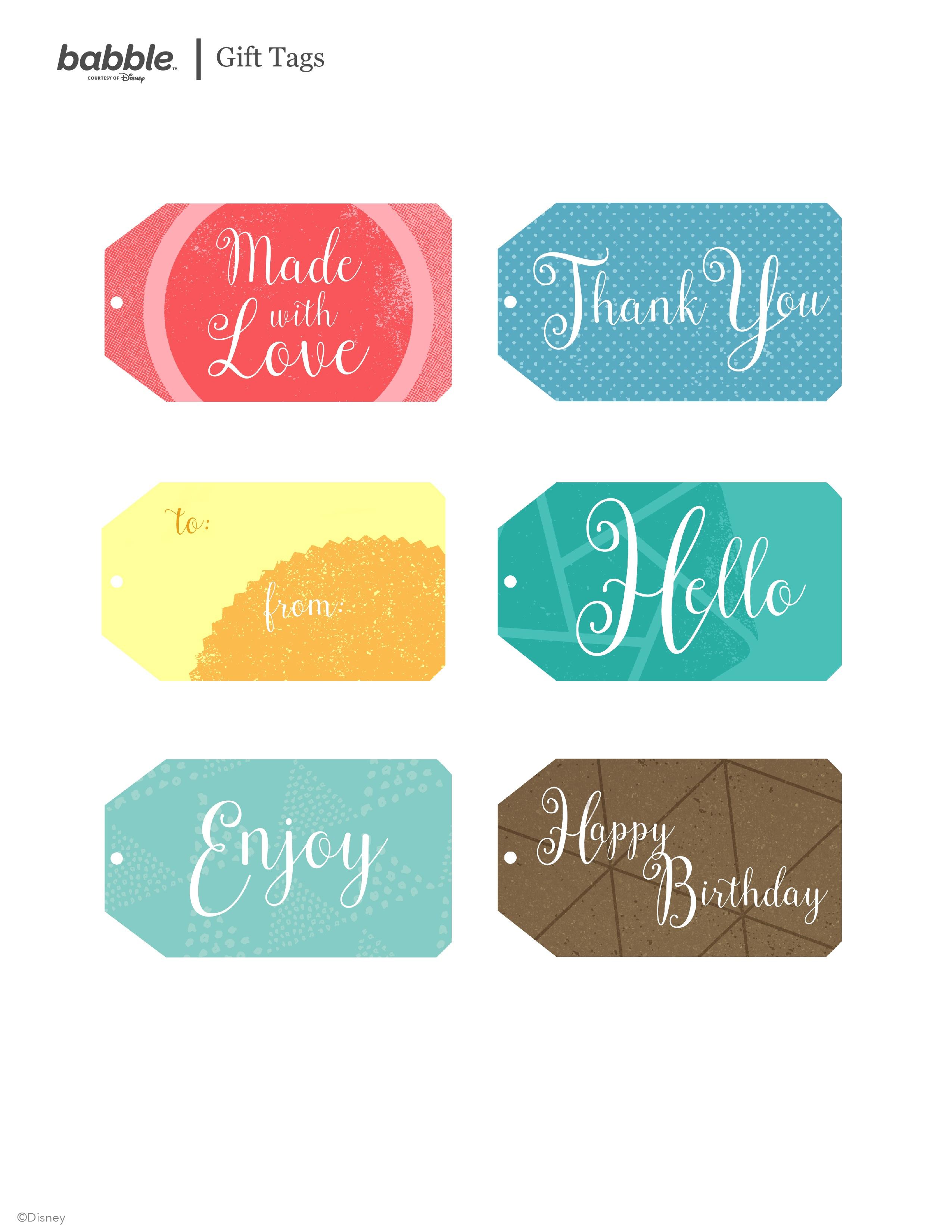 Free Printable Gift Tags | Babble - Free Printable Toe Tags