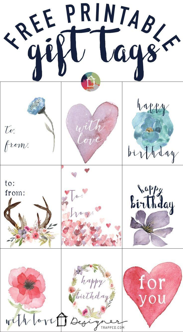 Free Printable Gift Tags For Birthdays   Printable Labels - Free Printable Gift Tags