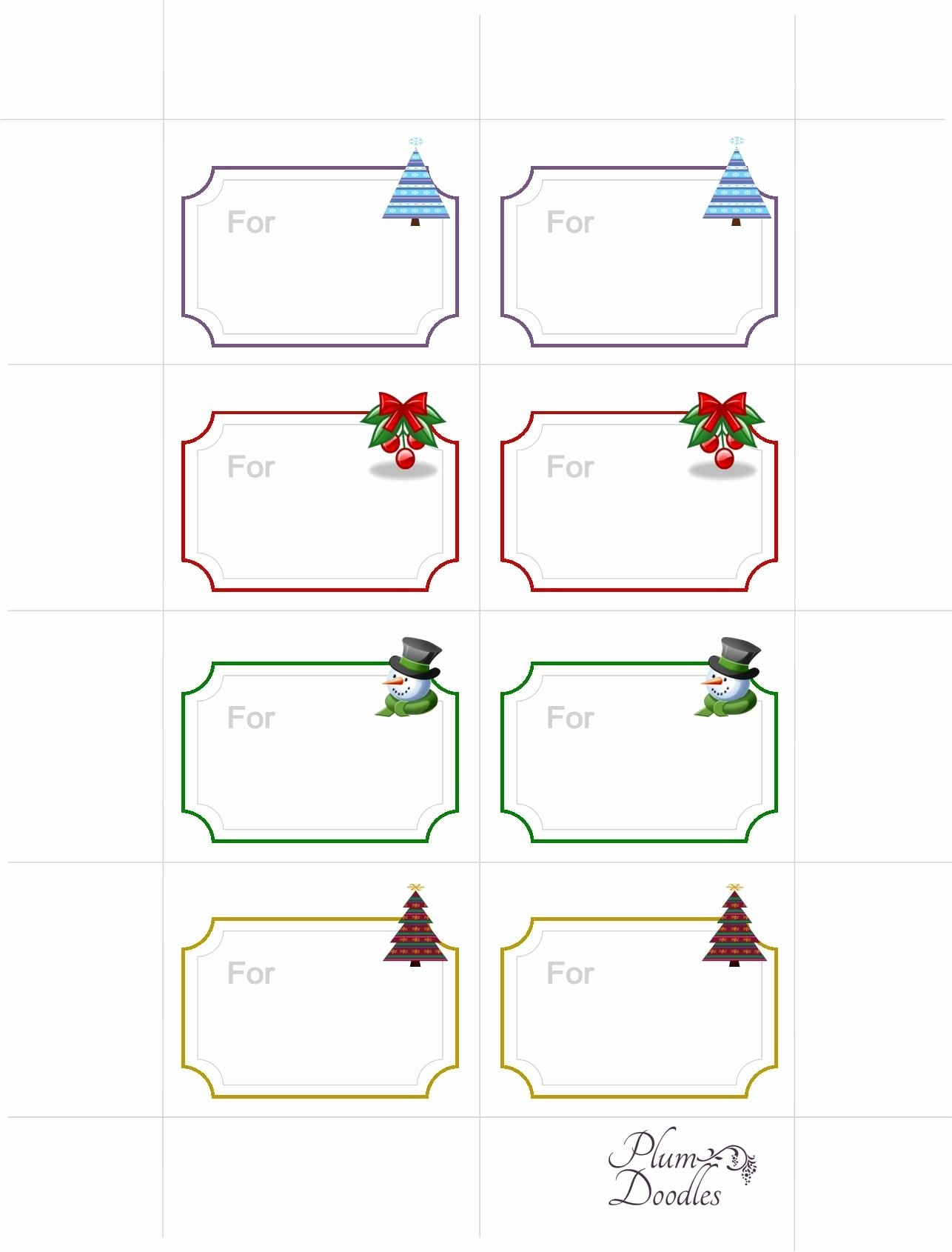 Free Printable Gift Tags – Pictimilitude - Free Printable Blank Gift Tags