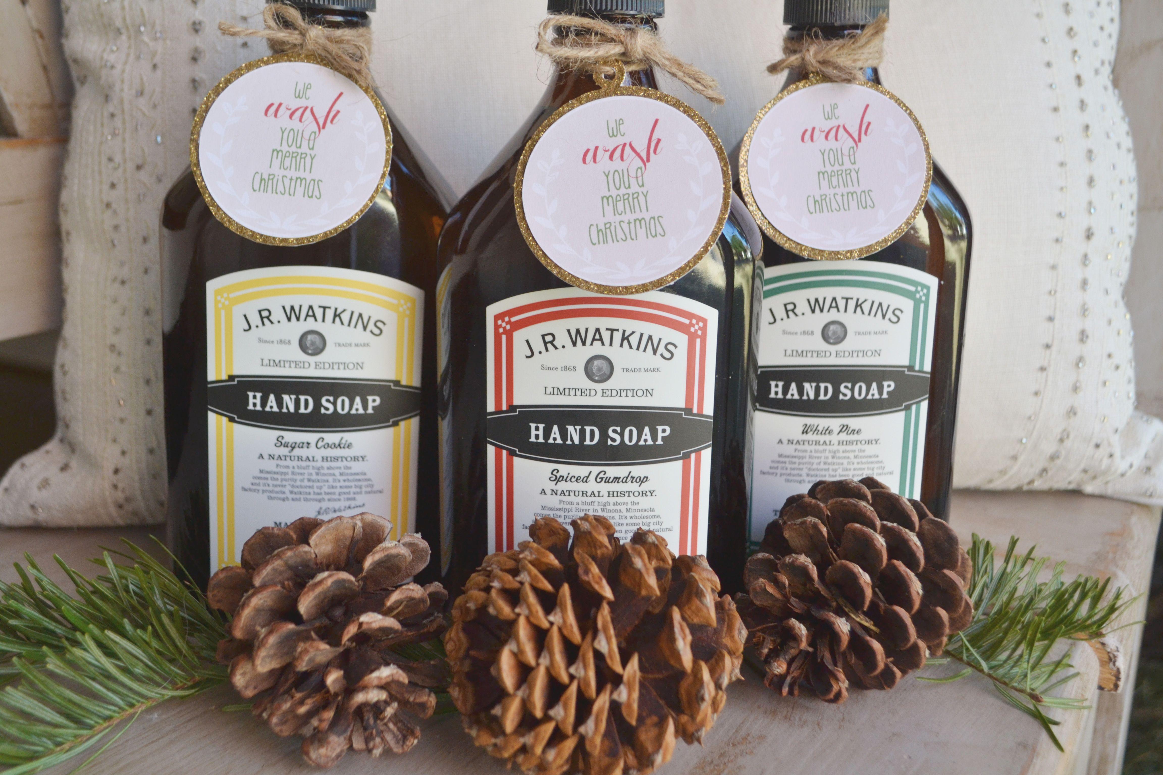 Free Printable Gift Tags - We Wash You A Merry Christmas// Perfect - We Wash You A Merry Christmas Free Printable