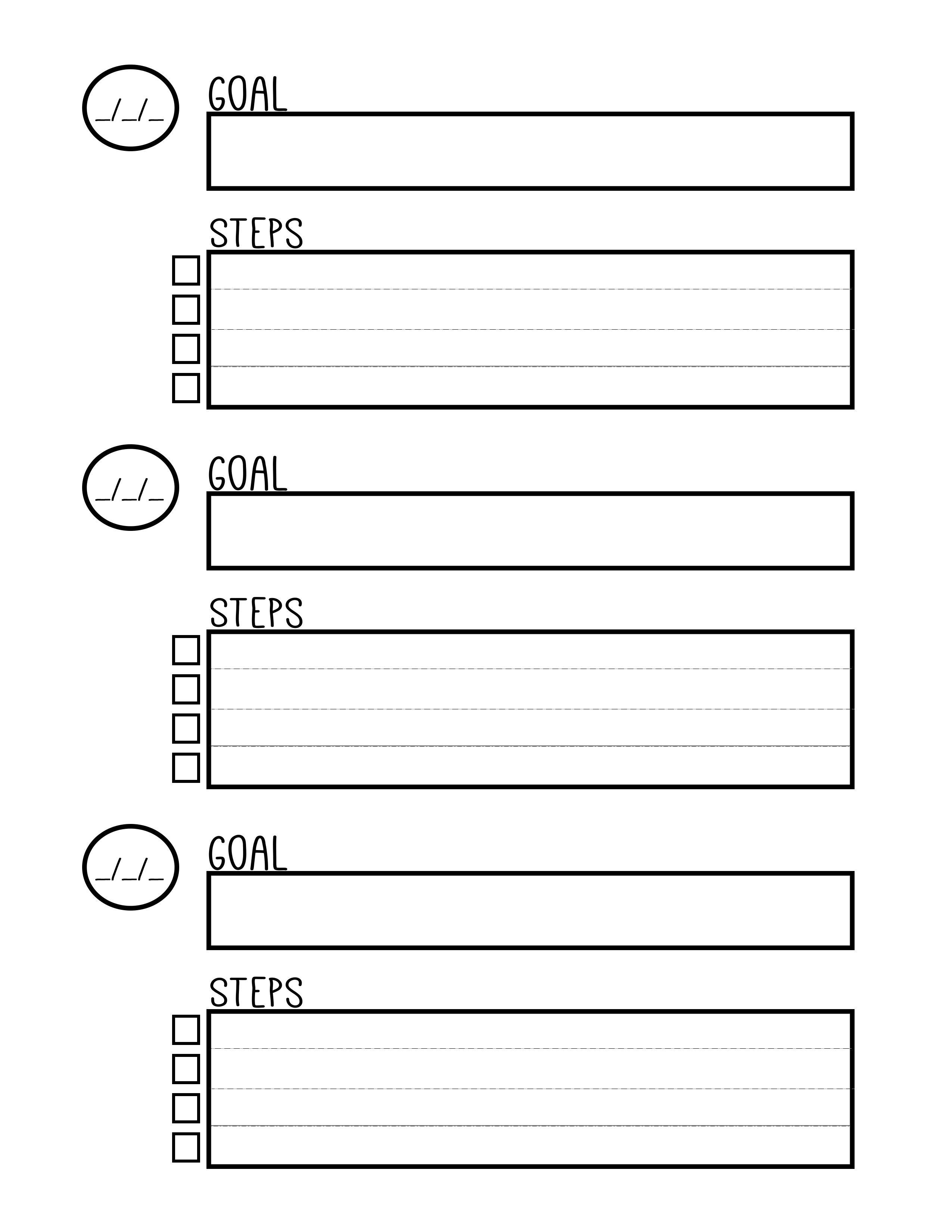 Free Printable Goal Setting Worksheet - Planner …   Education - Free Printable Goal Setting Worksheets For Students