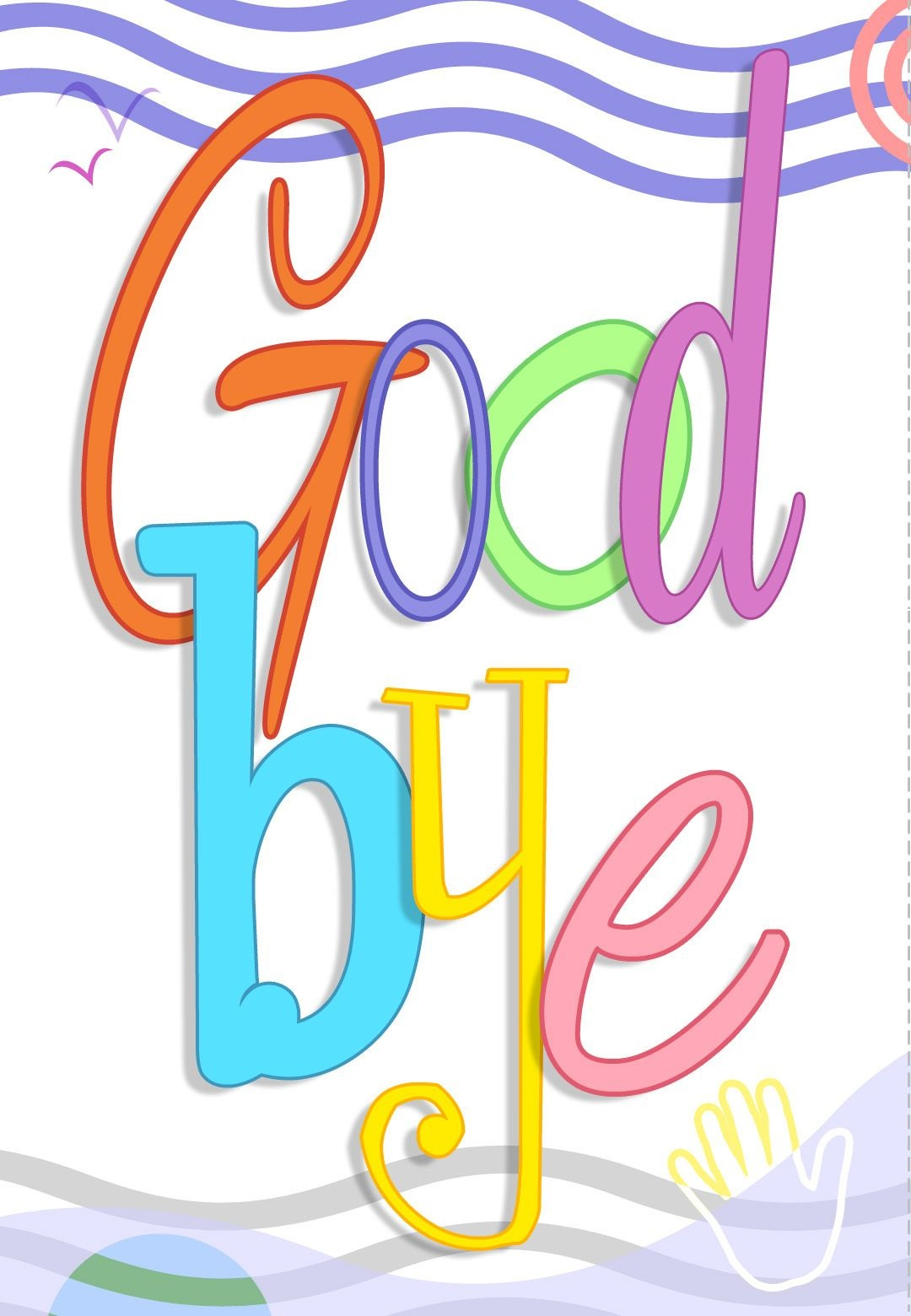 Free Printable Good Bye Greeting Card | Good Ideas | Goodbye Cards - Free Printable Goodbye Cards
