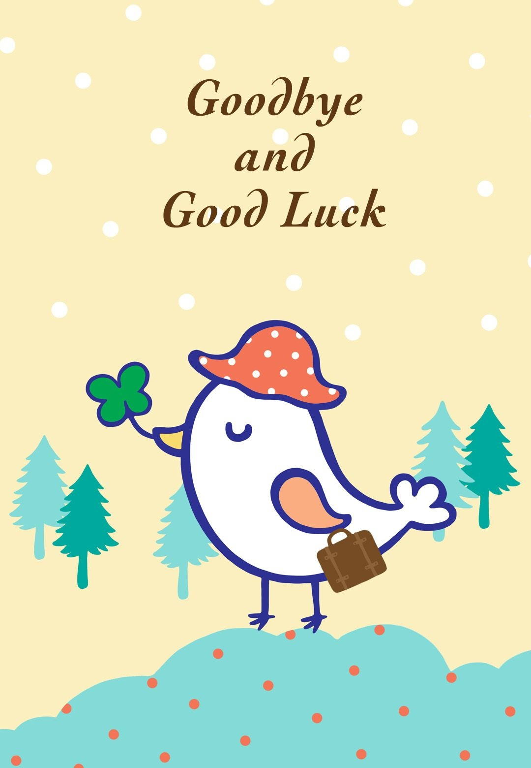 Free Printable Goodbye And Good Luck Greeting Card | Littlestar - We Will Miss You Cards For Coworker Printable Free