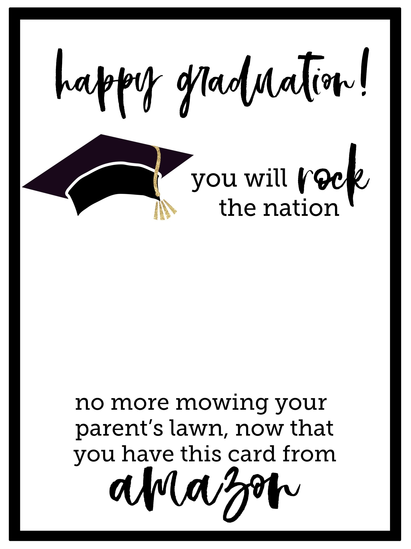 Free Printable Graduation Card - Paper Trail Design - Free Printable Graduation Cards 2018