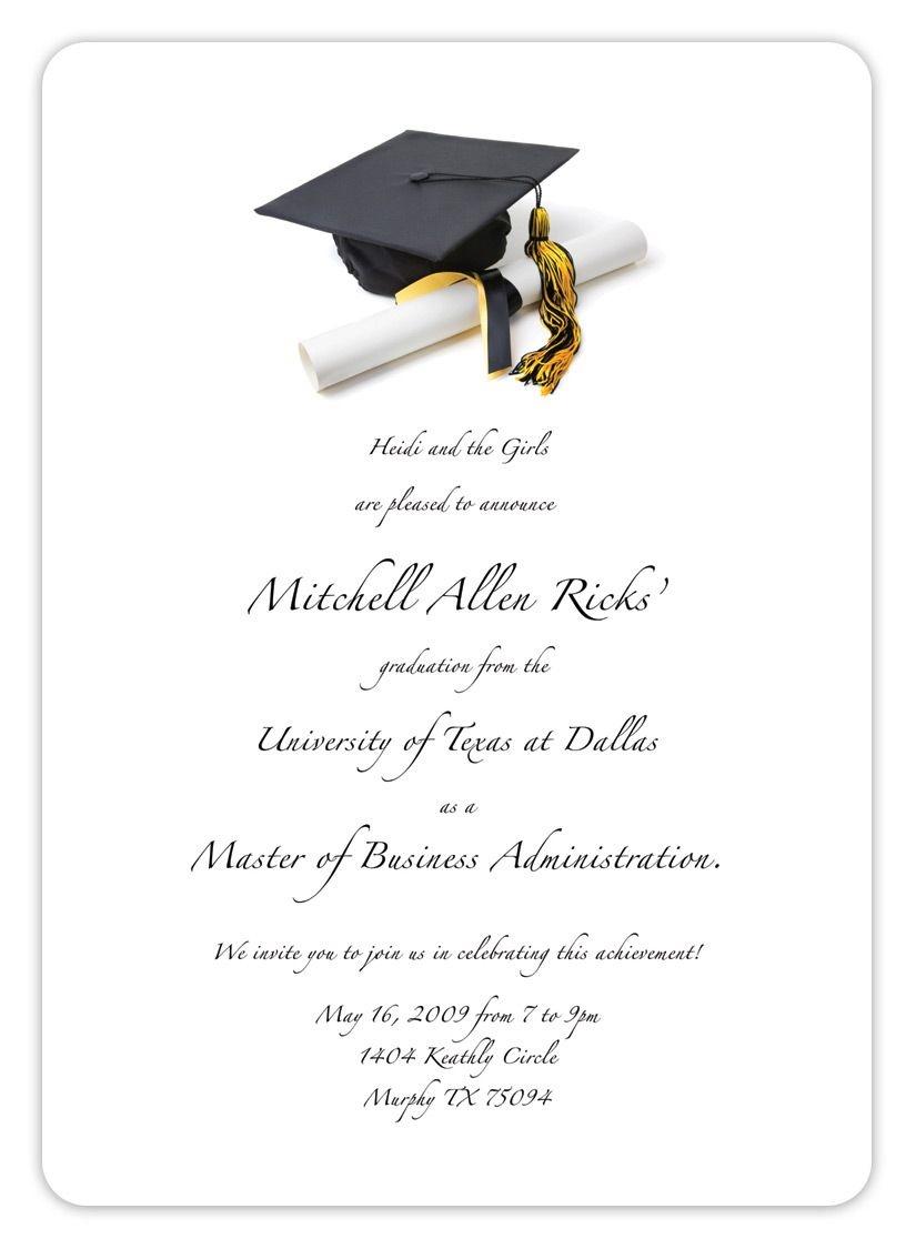 Free Printable Graduation Invitation Templates 2013 2017 - Free Printable Graduation Invitation Templates