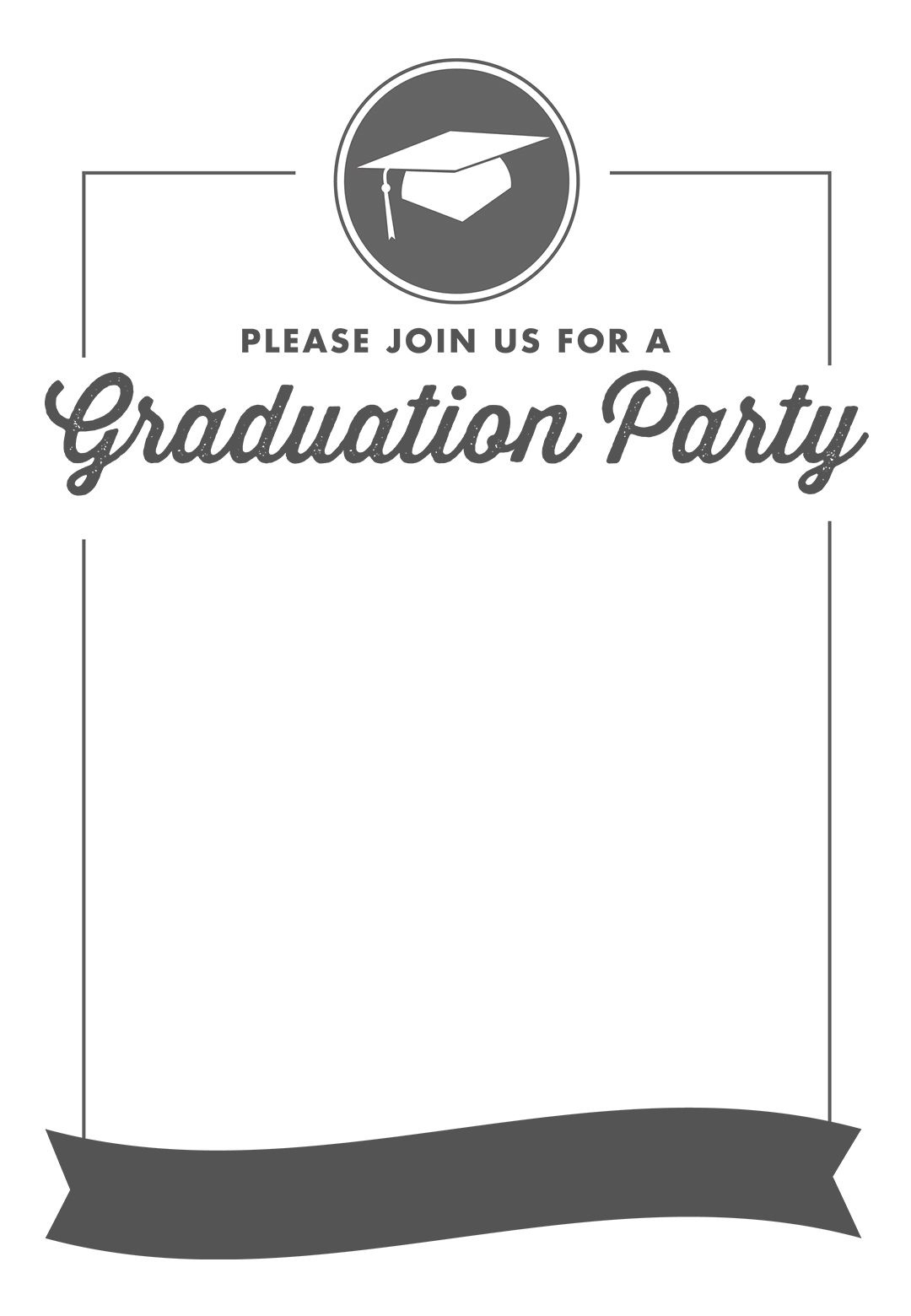 Free Printable Graduation Party Invitation Template | Greetings - Free Printable Graduation Dinner Invitations