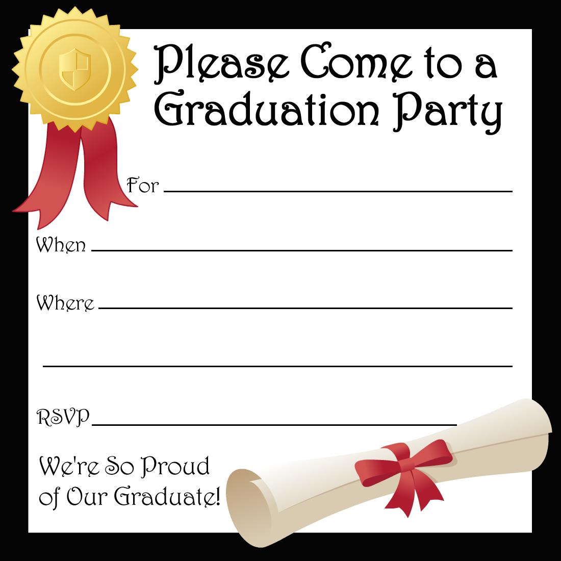 Free Printable Graduation Party Invitations | High School Graduation - Free Printable Graduation Invitations 2018