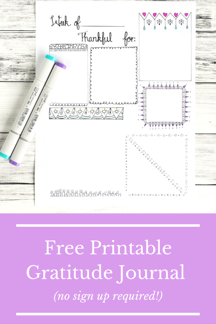 Free Printable Gratitude Journal Page | Paper Ideas - Free Printable Gratitude Journal