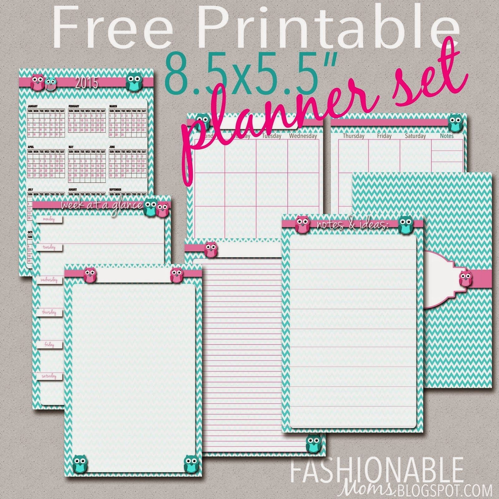 Free Printable Half Page Owl Planner Set {Updated For 2018} From - Mini Binder Free Printables