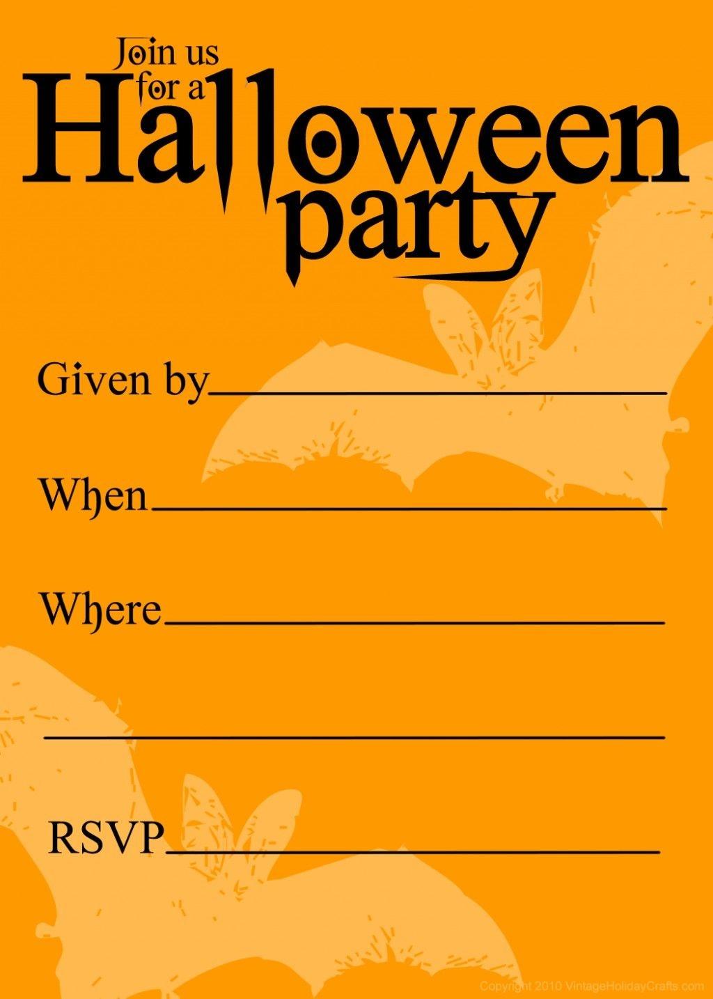 Free Printable Halloween Birthday Invitations Templates   Halloween - Free Printable Halloween Party Invitations