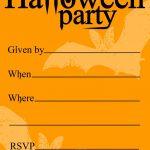 Free Printable Halloween Birthday Invitations Templates | Halloween   Halloween Party Invitation Templates Free Printable