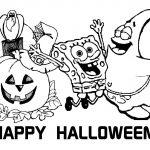 Free Printable Halloween Calendar | Halloween Spongebob Squarepants   Free Printable Halloween Coloring Pages
