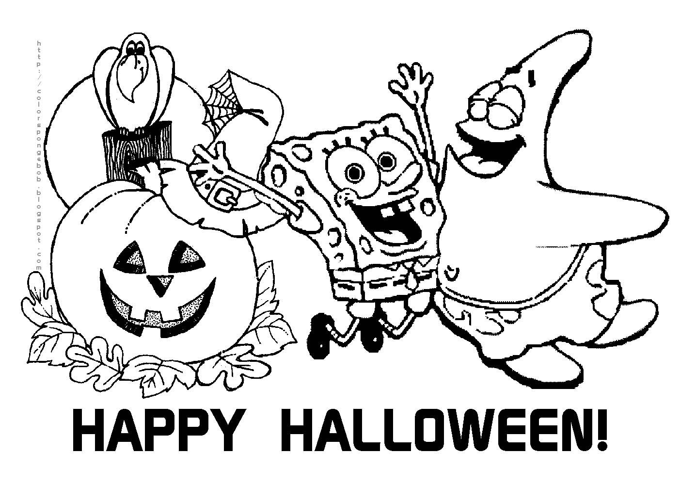 Free Printable Halloween Calendar | Halloween Spongebob Squarepants - Free Printable Halloween Coloring Pages