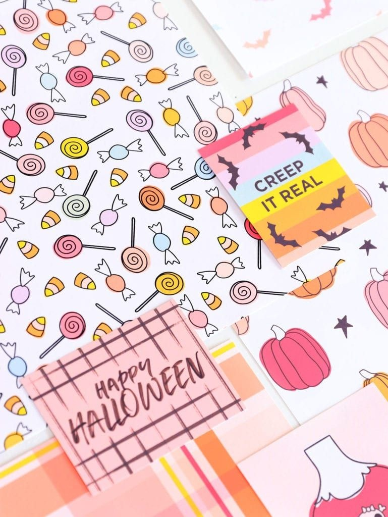 Free Printable Halloween Cardstock With Canon   Halloween - Free Printable Halloween Cards